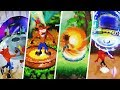 Evolution of beginning and end of levels - Crash Bandicoot Games