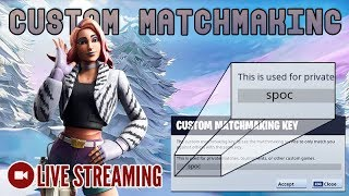 🔴 Playing Custom Matchmaking with SUBS | Code: spoc [Fortnite] LIVE