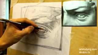 Глаз Давида (2). Обучение рисунку. Портрет. 24 серия