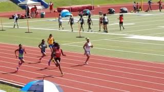 2017 USATF Gulf Assiciation 11-12 Girls 100 Meter Dash Prelims Heat 2/5