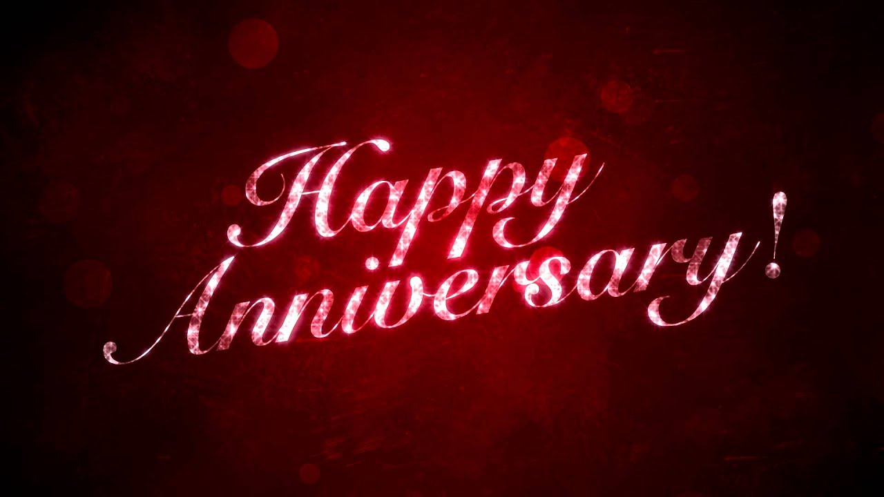 Happy Anniversary On Red Hd Background Loop Youtube