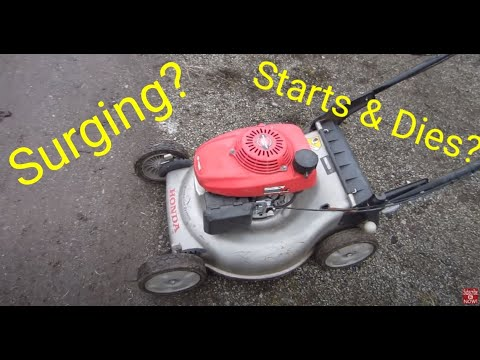 How to stop your lawnmower from surging, or not starting, or starting then dies