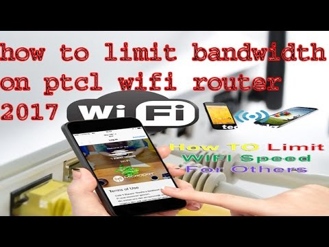 how to limit bandwidth on ptcl wifi router 2017 latest new easiest way UrduHindi