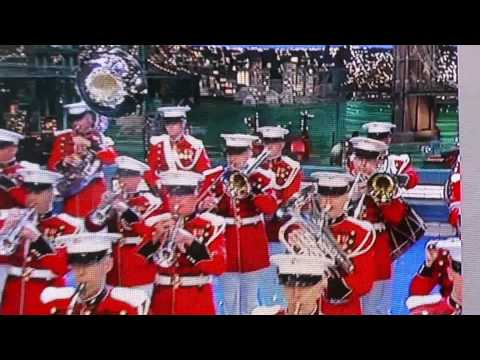 Michelle Obama, Marine band on Letterman Apr. 30,