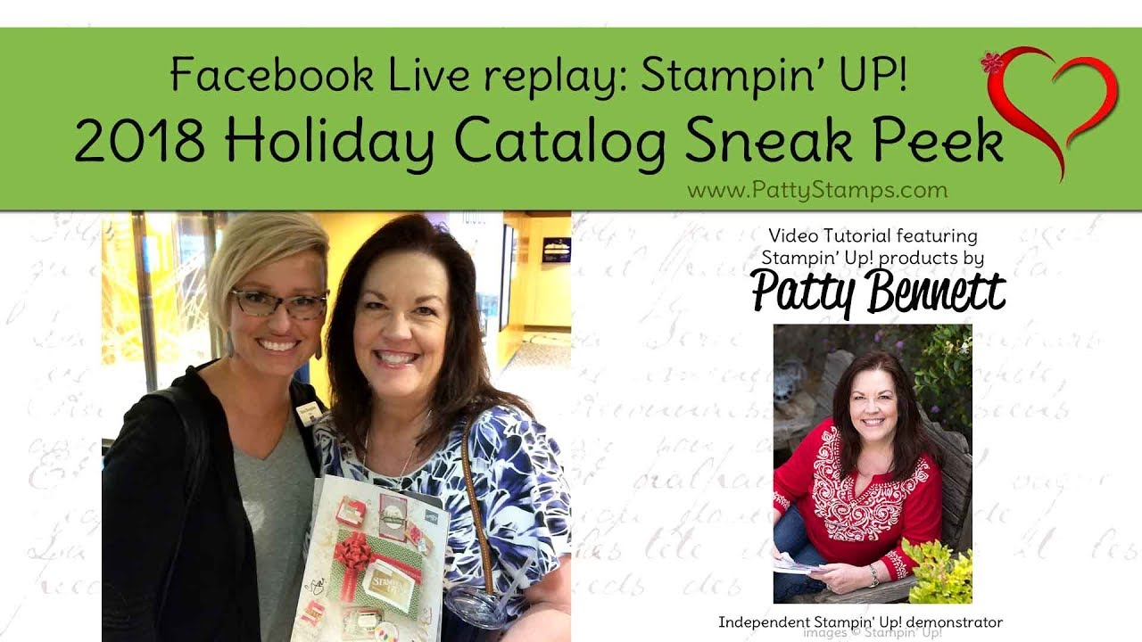catalogue noel 2018 stampin up Stampin' UP! 2018 Holiday Catalog Sneak Peeks with Patty Bennett  catalogue noel 2018 stampin up