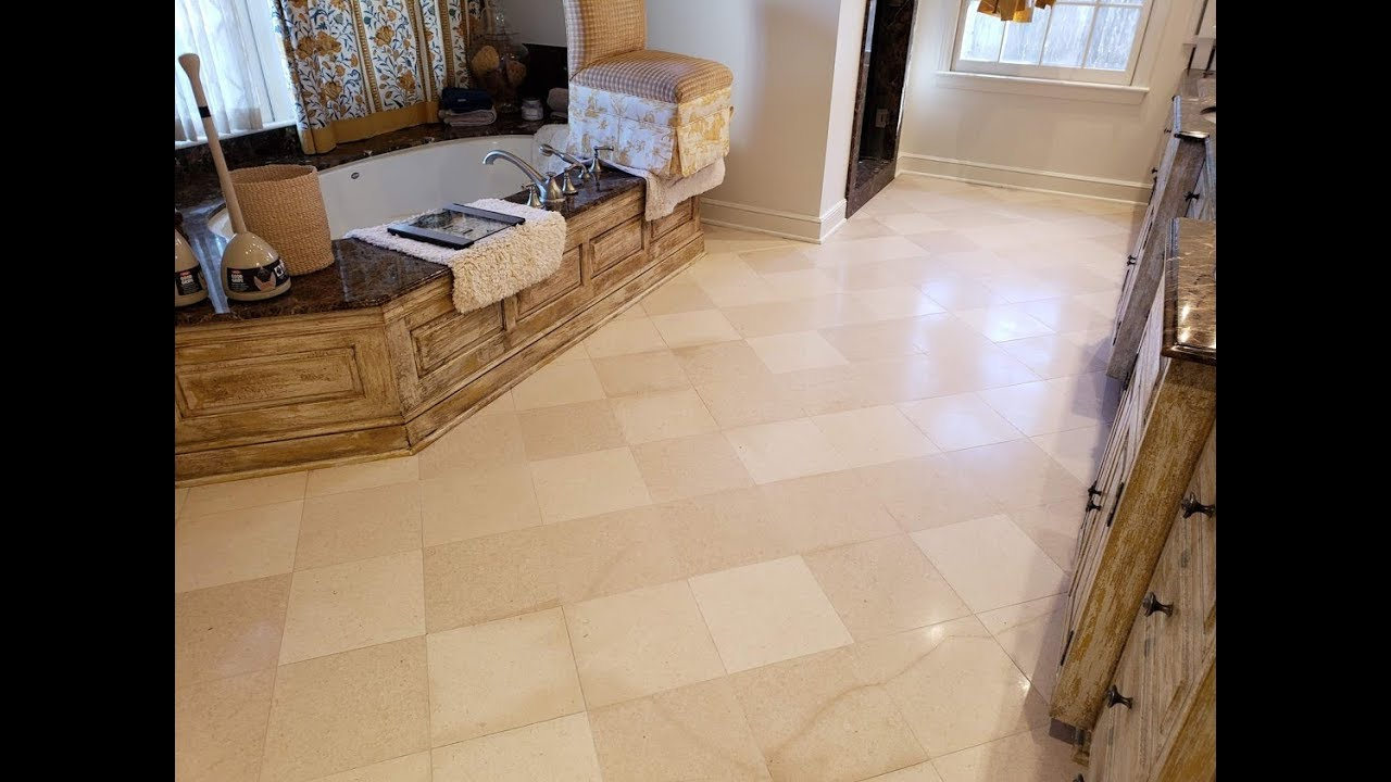 Marble Tile Floor Cleaning Amp Polishing In Tulsa Youtube