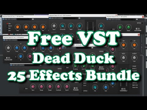 Free VST - Dead Duck Effects Bundle - 25 Effect Plugins