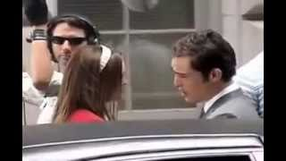 Ed Westwick and Leighton Meester on set filming Gossip Girl 3x02 July 13, 2009