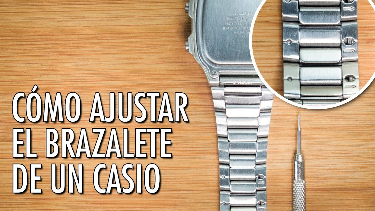 ac8d53234541 Cómo Ajustar El Brazalete   Pulso de un Reloj Casio - YouTube