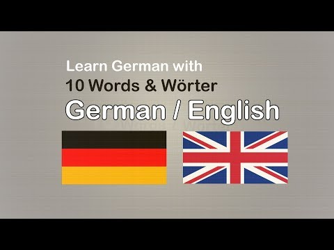 Learn German to English Vokabular / Lesson 2, Part German Vocabulary List General