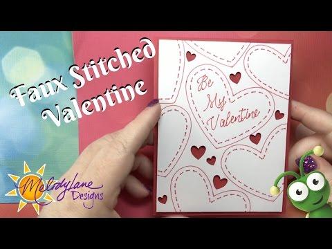 Valentine Stitch Card in Cricut Design Space Simply Sweet Cartridge, learn to Contour, weld, slice
