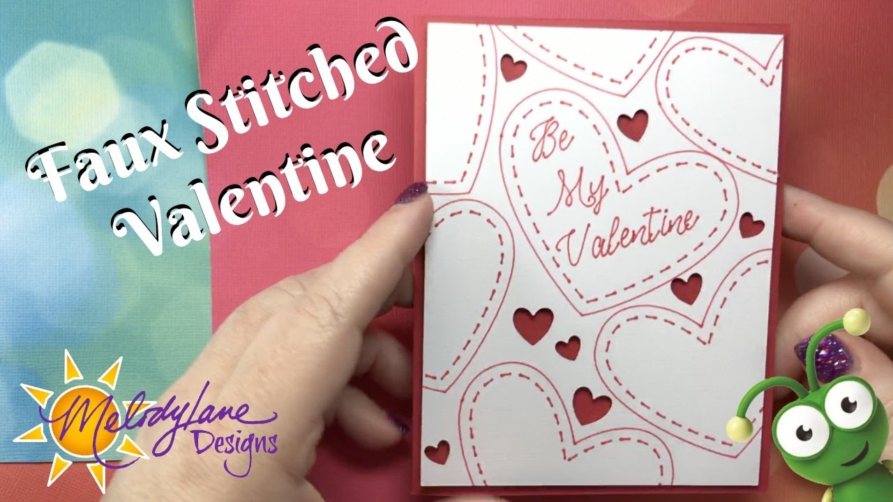 Valentine Stitch Card In Cricut Design Space Simply Sweet Cartridge, Learn  To Contour, Weld, Slice