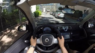 Smart fortwo 1.0 mhd Cabrio (2013) - POV City Drive (Top down)