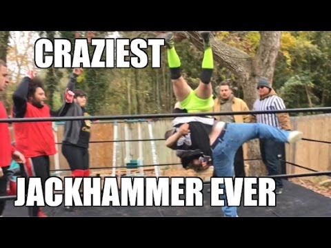 CRAZIEST GOLDBERG JACKHAMMER WWE FINISHING MOVE TRIBUTE EVER!