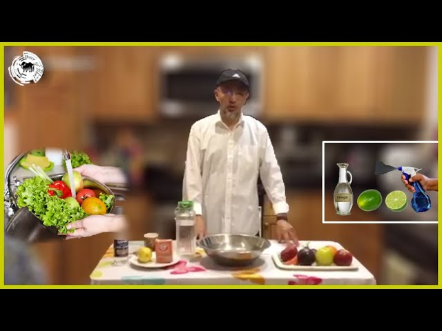 How to disinfect fruits/vegetables and your home