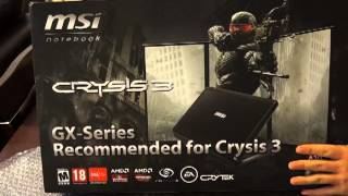 MSI GX70 3BE Unboxing Kutu a lm