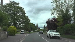 Driving On The A443 From Holt Heath Through Hallow To Worcester, Worcestershire, England