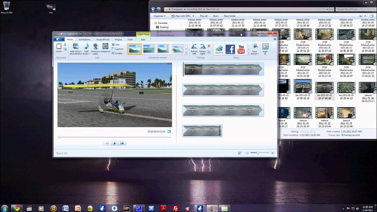 16x9 rendering in windows movie maker live windows 7