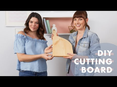 Easy DIY Wood Cutting Board | The Drill Down with The Sorry Girls