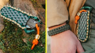 CONSTANT Companion! Paracord Swiss Army Knife Slipjoint Belt Pouch TUTORIAL