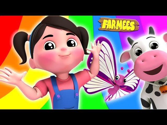 Rainbow Song | Kindergarten Nursery Rhymes For Toddlers