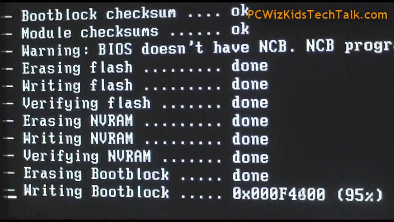 How to flash the motherboard 9