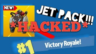 I FOUND THE NEW JET PACK IN Fortnite AND GOT HACKED!!! (*NOT CLICKBAIT*)