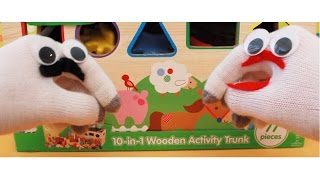 Duffy And Lucy Play Kids Connection 10 In 1 Wooden Activity Trunk Toy Game Review