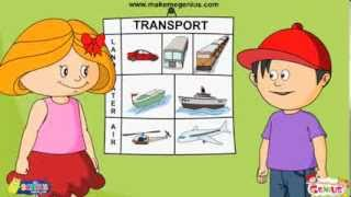 Transport  For Kids  Means And Modes