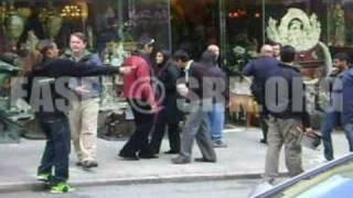 Shahrukh Khan & Kajol during My Name is Khan's shooting in San Francisco