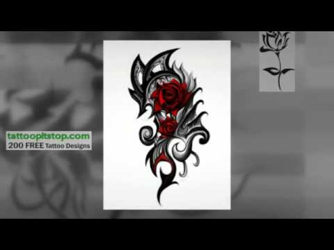 Tribal Rose Tattoos Youtube