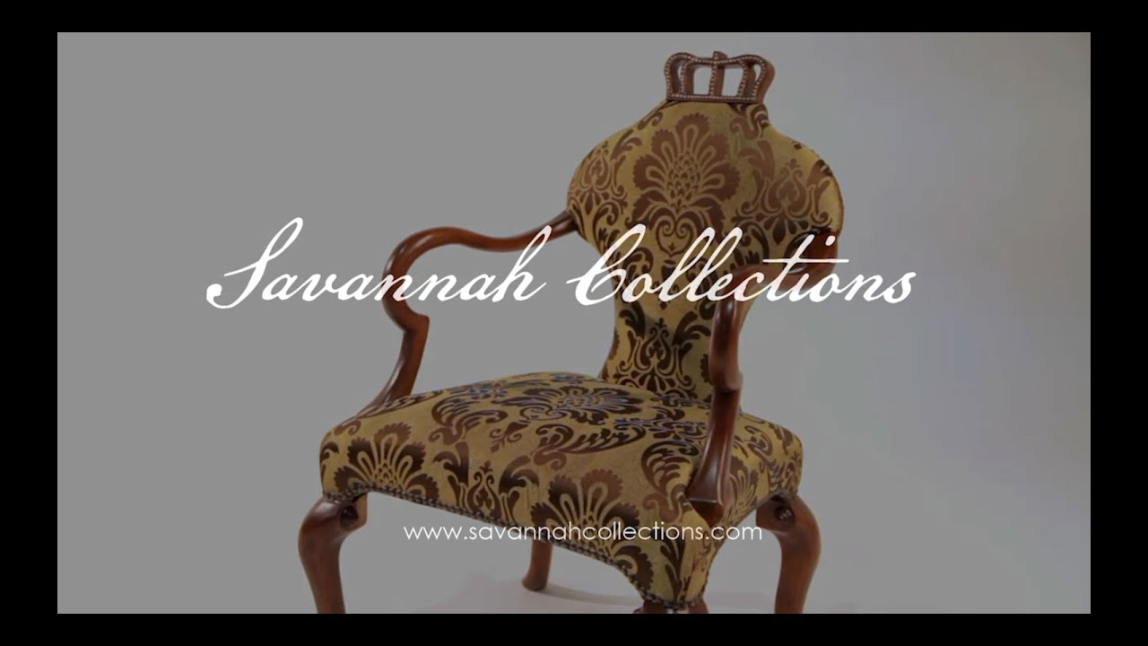 Classical French Furniture Crown Chair by Savannah Collections
