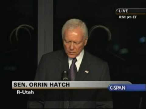 Edward Kennedy Memorial Service - Sen. Orrin Hatch (Part 3)