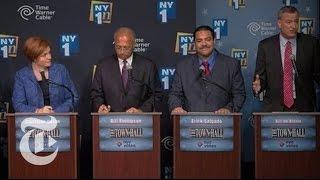 Rivals Target Bill de Blasio in New York Mayoral Debate | The New York Times