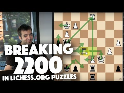Breaking 2200 in lichess.org Puzzles | Puzzler's Paradise - IM Eric Rosen