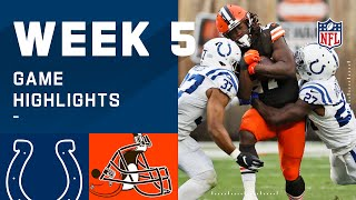 Colts vs. Browns Week 5 Highlights | NFL 2020