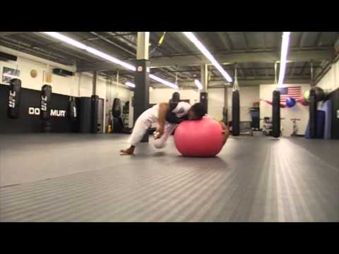 Stability ball flow for BJJ & MMA