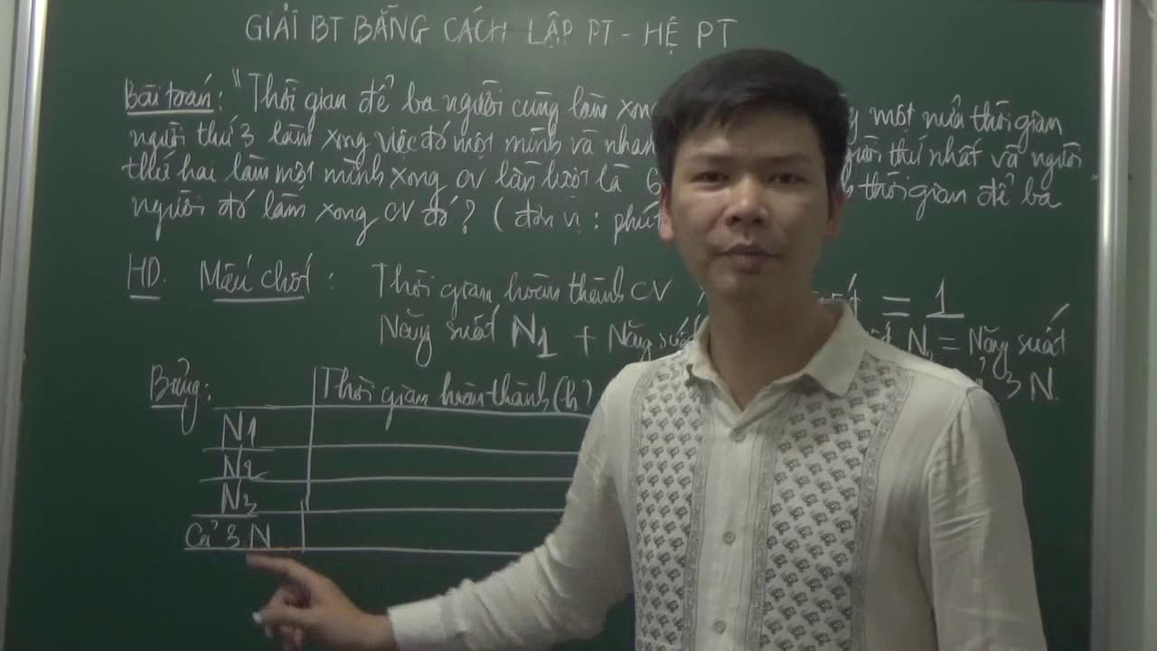 Giải bài toán bằng cách lập hệ phương trình – Dạng toán '' Làm chung – làm riêng '' Nâng cao.