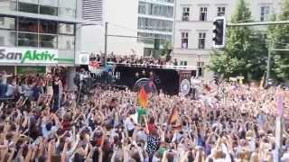 Weltmeister 2014, Begrüssung der Nationalmannschaft in Berlin, so sehen Sieger aus
