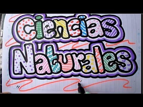 Como Marcar Un Cuaderno De Ciencias Naturales Youtube