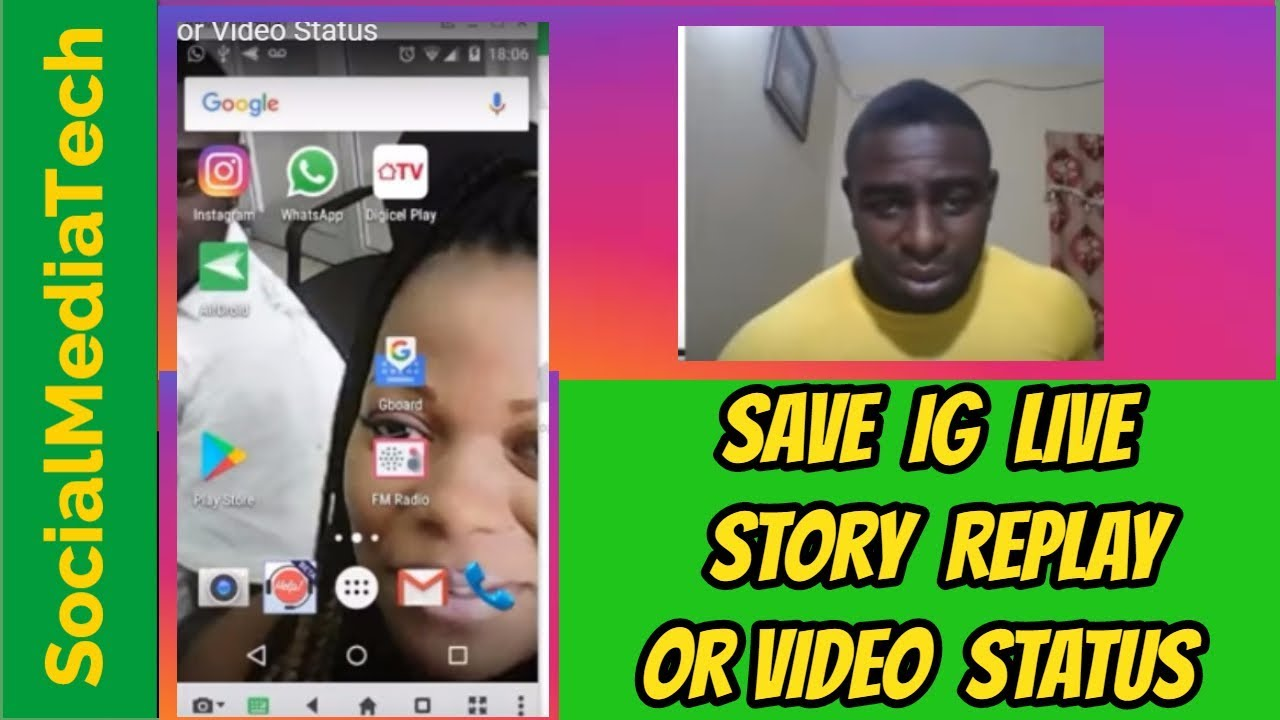 How To Save Instagram Live Story Replay Or Video Status Youtube