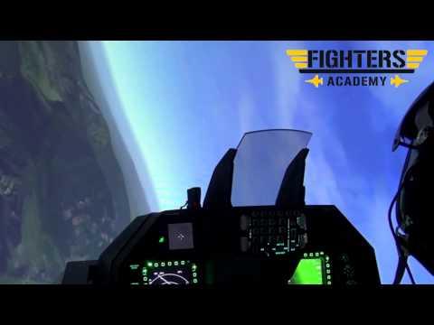 Vol en simulateur d'avion de chasse F16 à Lyon (HD / Go Pro)