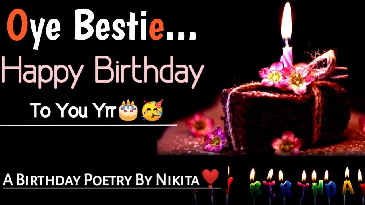 Birthday Poetry For Best Friend Happy Birthday Bestie Poetry Happy Birthday Poetry Youtube