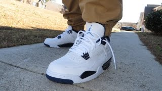 "AIR JORDAN RETRO 4 ""LEGEND BLUE/COLUMBIA"" REVIEW AND ON FEET!!!"