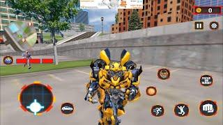 Bumblebee Grand Robot car Transform 3d game   Android Gameplay #1 screenshot 4