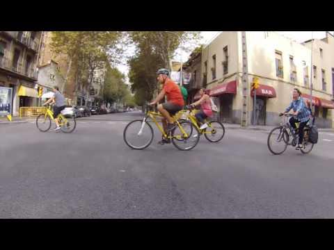 Bicicletada Millorem el medi ambient. Diputació de Barcelona