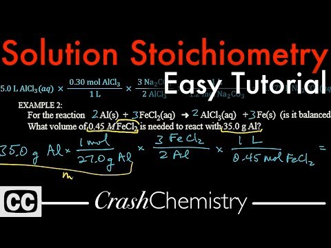 Solution Stoichiometry Tutorial How To Use Molarity Problems Explained Crash Chemistry Academy