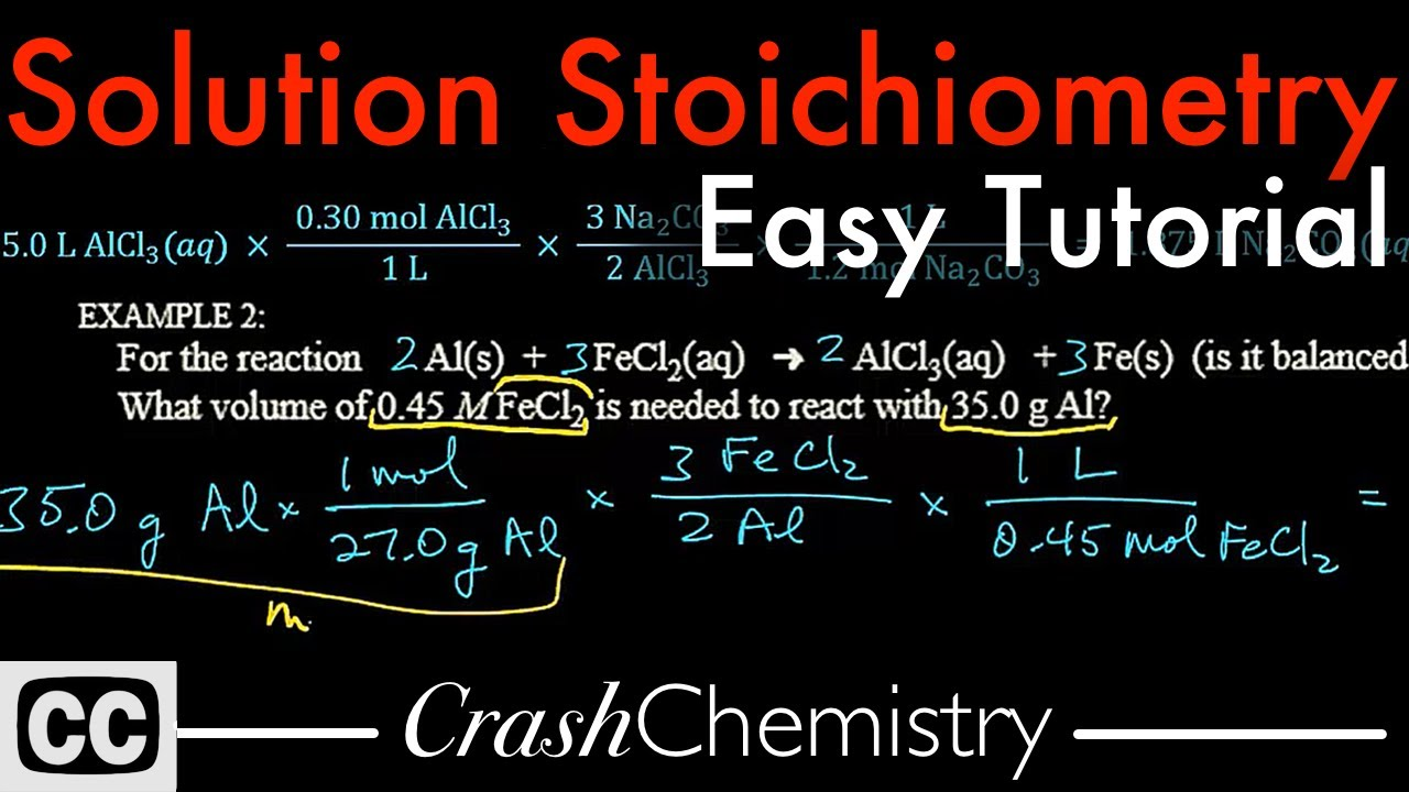 Solution Stoichiometry Tutorial: How To Use Molarity + Problems Explained   Crash Chemistry Academy