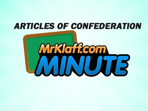 Articles of Confederation - One Minute Review Lesson