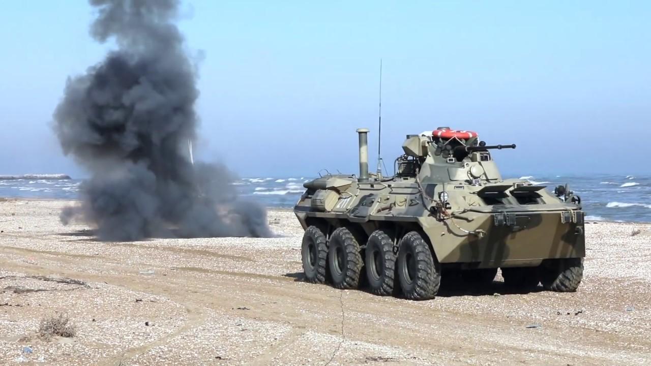 В Дагестане прошли учения морской пехоты